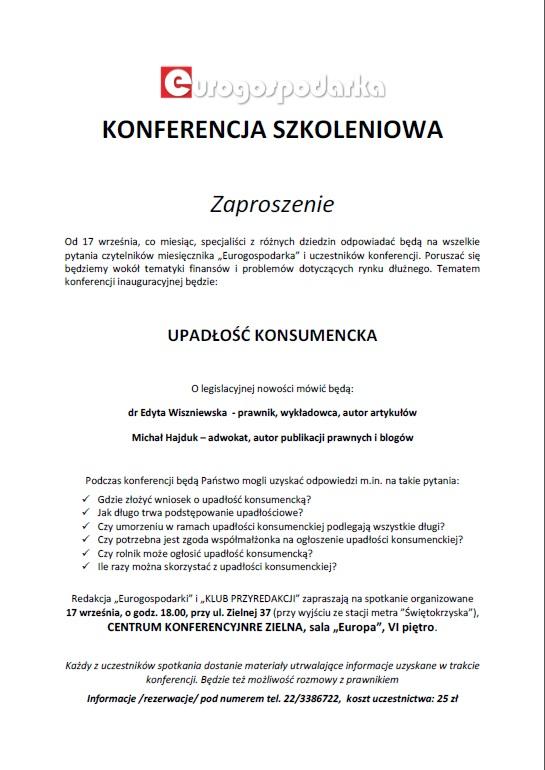 konferencja szkoleniowa Warszawa